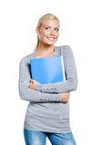 Female hands folder with documents Royalty Free Stock Image