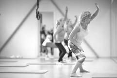 Female group aerobics Royalty Free Stock Photos