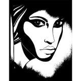 Female grunge face silhouette. Female grunge face vector illustration silhouette vector illustration