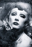 Female Grunge Portrait. Royalty Free Stock Images