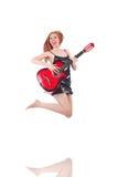 Female guitar performer Royalty Free Stock Image