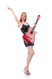 Female guitar performer Stock Images