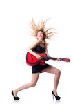 Female guitar player Royalty Free Stock Photography