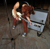 Female guitarist royalty free stock photo