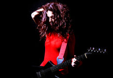 Female Guitarist Stock Images