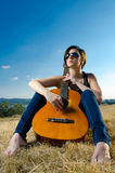 Female guitarist Stock Photos