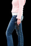 Female with a gun Stock Image