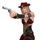 Female gunfighter Royalty Free Stock Images