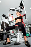 Female gym fitness Stock Image