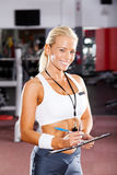 Female gym instructor Stock Photography