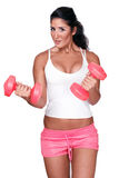 Female gym trainer Stock Image