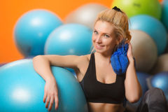Female in the gym Royalty Free Stock Image