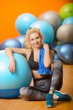Female in the gym Stock Photography