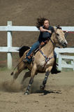 Female Gymkhana racer Stock Photography
