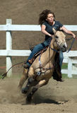 Female Gymkhana racer Royalty Free Stock Image