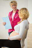 Female gynecologist at work Stock Photo