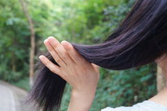 Female hair feature Stock Photo