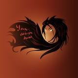 Female hair text background Stock Photos