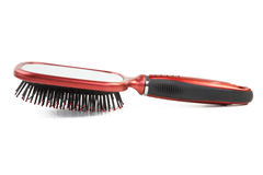 Female hairbrush on a white Royalty Free Stock Photography