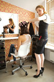Female hairdresser Royalty Free Stock Photography