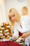 Female hairdresser working Stock Photography