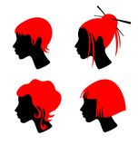 Female hairdresses Stock Photo