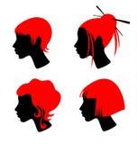 Female hairdresses stock photo