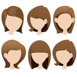 Female hairstyle collection Stock Image