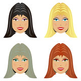 Female hairstyles Royalty Free Stock Image