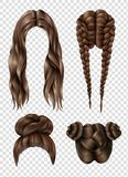 Female Hairstyles Set Royalty Free Stock Images