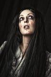 Female halloween zombie royalty free stock image