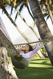 Female in hammock. Royalty Free Stock Photography