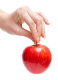 Female hand with an apple Stock Photography
