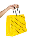 Female hand with bag a over Royalty Free Stock Images