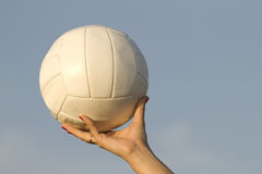 Female  hand   ball  sky Stock Photo