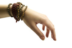 Female hand with  bracelet Stock Photography