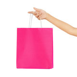 Female hand carries a shopping bag Stock Photography
