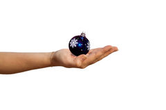 Female hand with christmas sphere Stock Photos