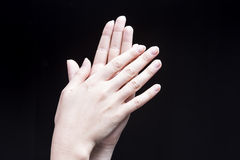 Female Hand Clapping Stock Images