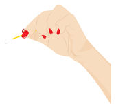 Female hand with a cotton swab Stock Photography