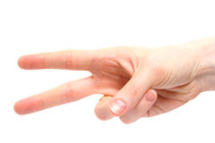Female Hand Counting Royalty Free Stock Photo