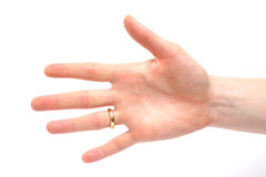 Female Hand Counting - Five Stock Photography