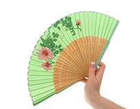 Female hand with decorated fan #3 Stock Images