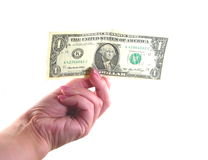 Female Hand with Dollar Stock Photography