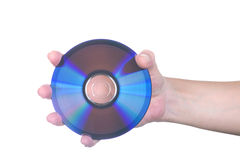 Female Hand with dvd Royalty Free Stock Images