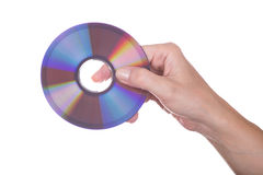 Female Hand with dvd Royalty Free Stock Photo