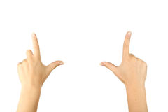 Female hand gestures, close up. Female hand gestures close up stock photography