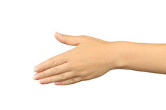 Female hand gestures, close up Stock Image