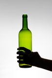 Female hand holding a bottle Stock Images
