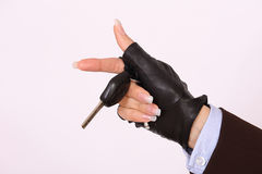 Female hand holding a car keys Royalty Free Stock Photos